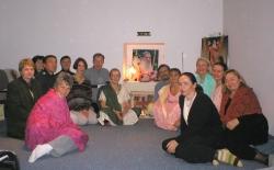 Devotees with Swamiji